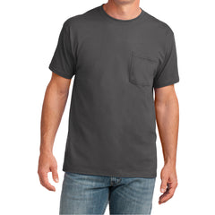 Men's Core Cotton Pocket Tee - Charcoal - Front