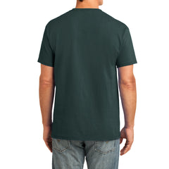 Men's Core Cotton Pocket Tee - Dark Green - Back