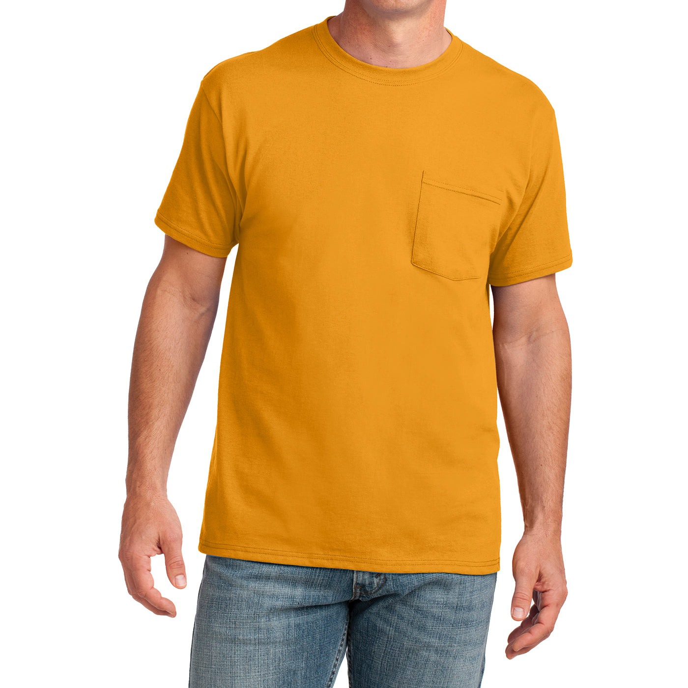 Men's Core Cotton Pocket Tee - Gold - Front
