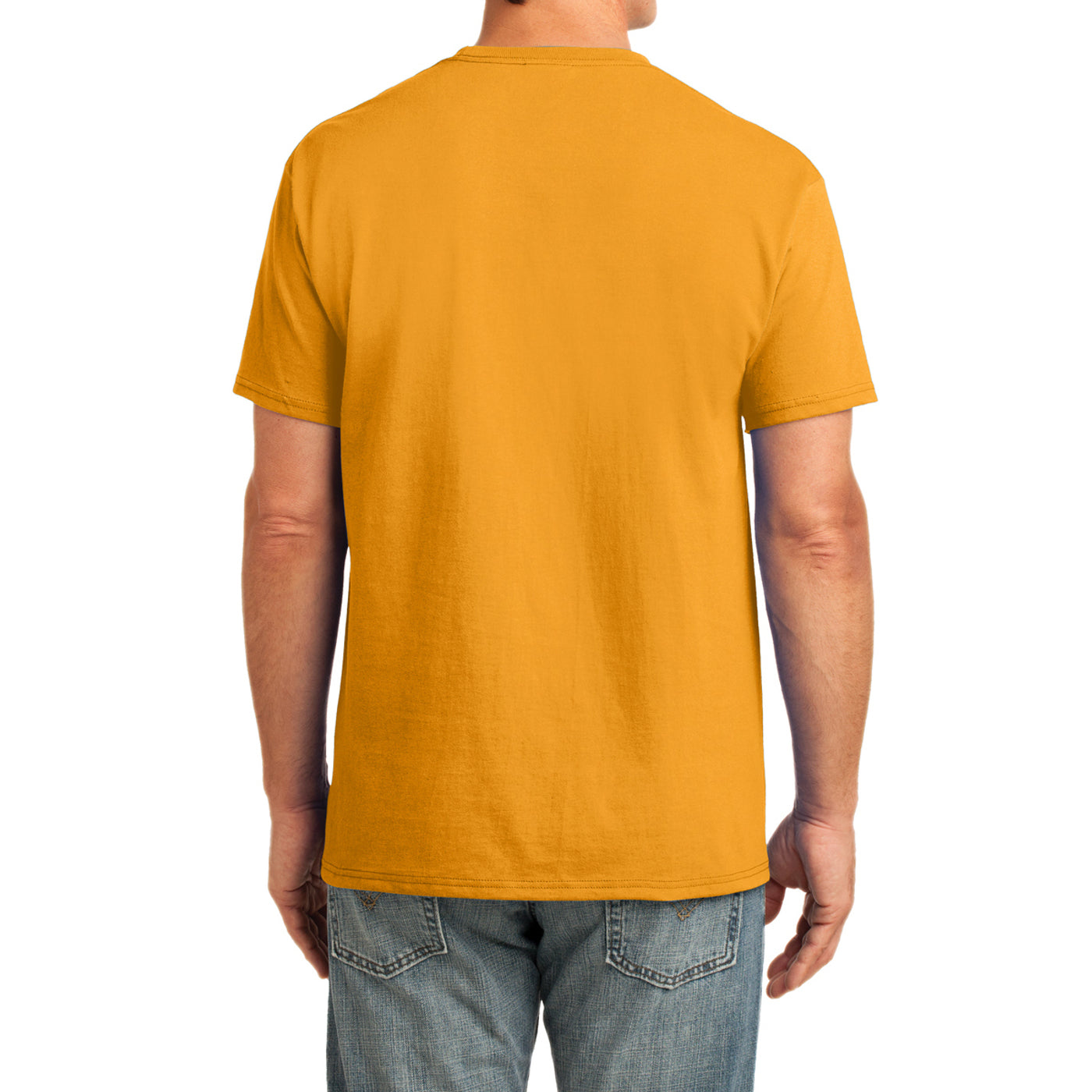 Men's Core Cotton Pocket Tee - Gold - Back