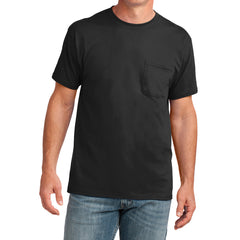 Men's Core Cotton Pocket Tee - Jet Black - Front