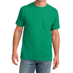 Men's Core Cotton Pocket Tee - Kelly - Front