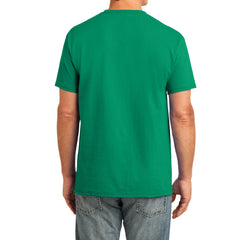 Men's Core Cotton Pocket Tee - Kelly - Back