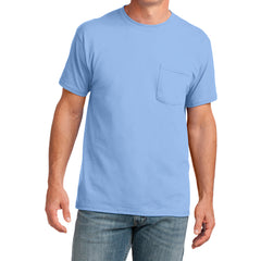 Men's Core Cotton Pocket Tee - Light Blue - Front