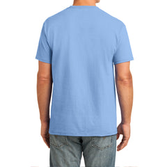 Men's Core Cotton Pocket Tee - Light Blue - Back