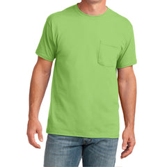 Men's Core Cotton Pocket Tee - Lime - Front