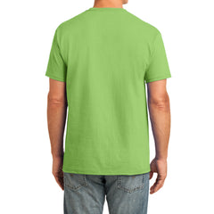 Men's Core Cotton Pocket Tee - Lime - Back
