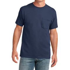 Men's Core Cotton Pocket Tee - Navy - Front