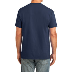 Men's Core Cotton Pocket Tee - Navy - Back