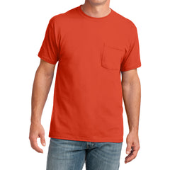 Men's Core Cotton Pocket Tee - Orange - Front