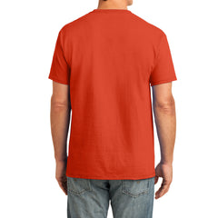 Men's Core Cotton Pocket Tee - Orange - Back