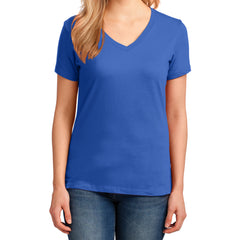 Women's Core Cotton V-Neck Tee - Royal - Front