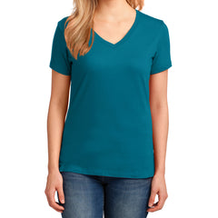 Women's Core Cotton V-Neck Tee - Teal - Front