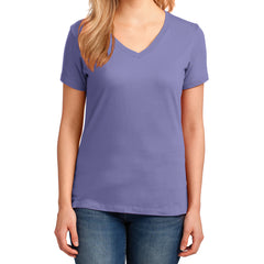 Women's Core Cotton V-Neck Tee - Violet - Front