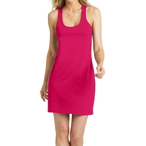 Women's 60/40 Racerback Dress - Watermelon - Front