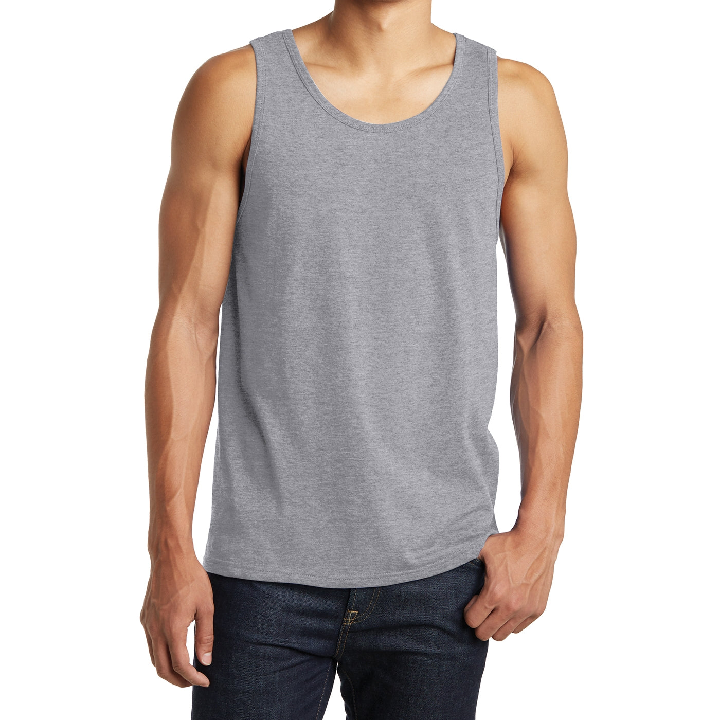 Men's District Young The Concert Tank - Heather Grey
