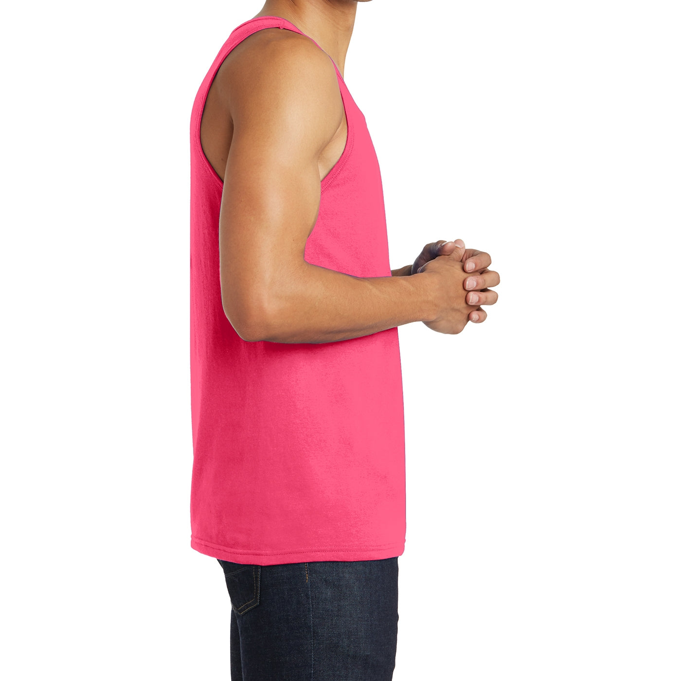Men's District Young The Concert Tank - Neon Pink