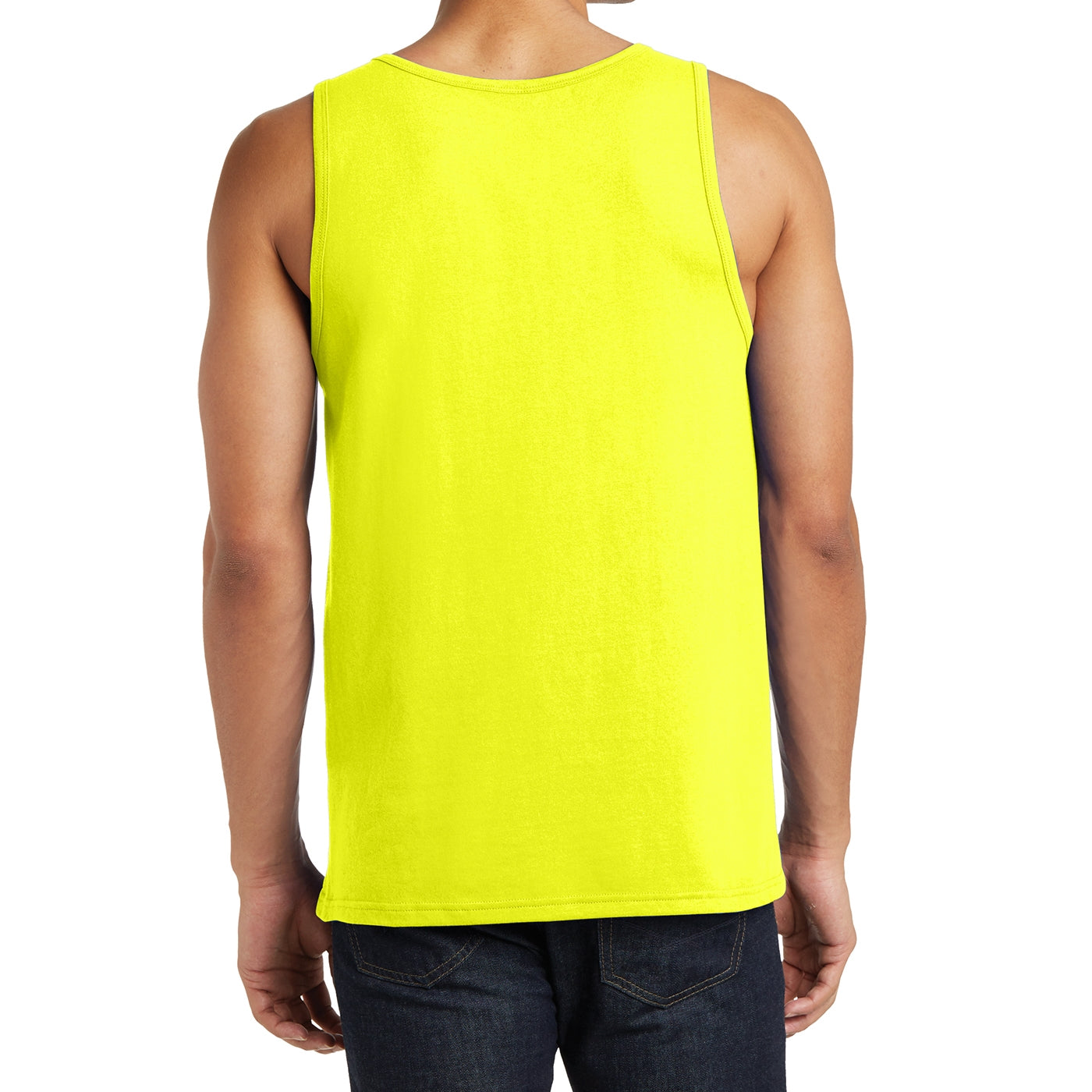 Men's District Young The Concert Tank - Neon Yellow