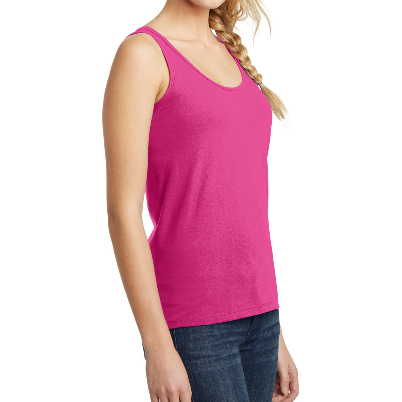 Women's Juniors The Concert Tank - Dark Fuchsia