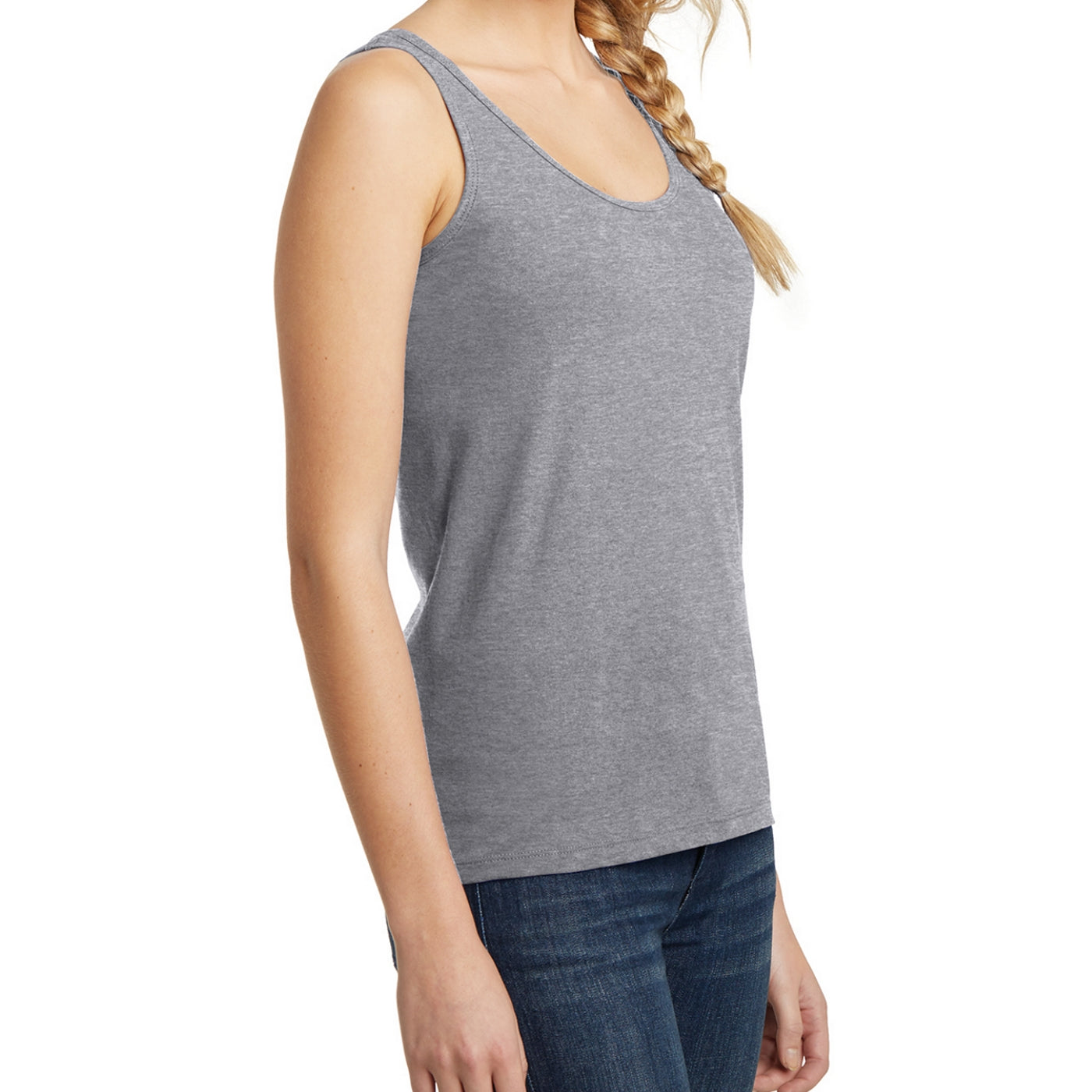 Women's Juniors The Concert Tank - Heather Grey