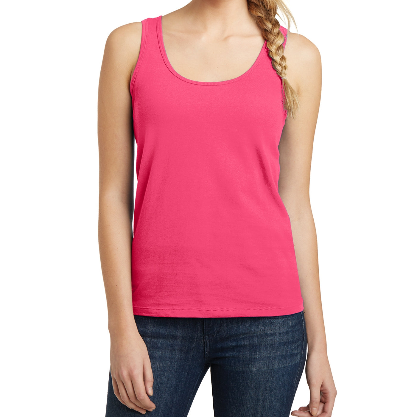 Women's Juniors The Concert Tank - Neon Pink