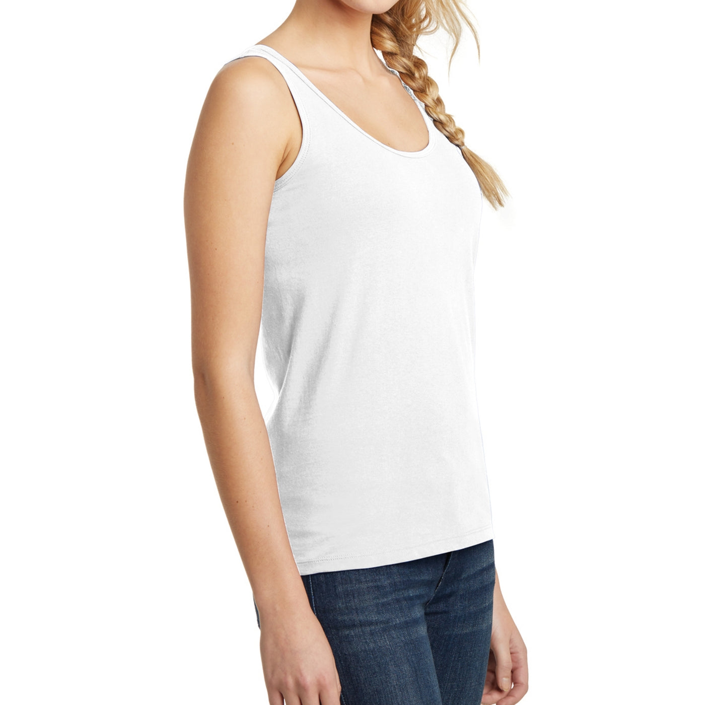 Women's Juniors The Concert Tank - White