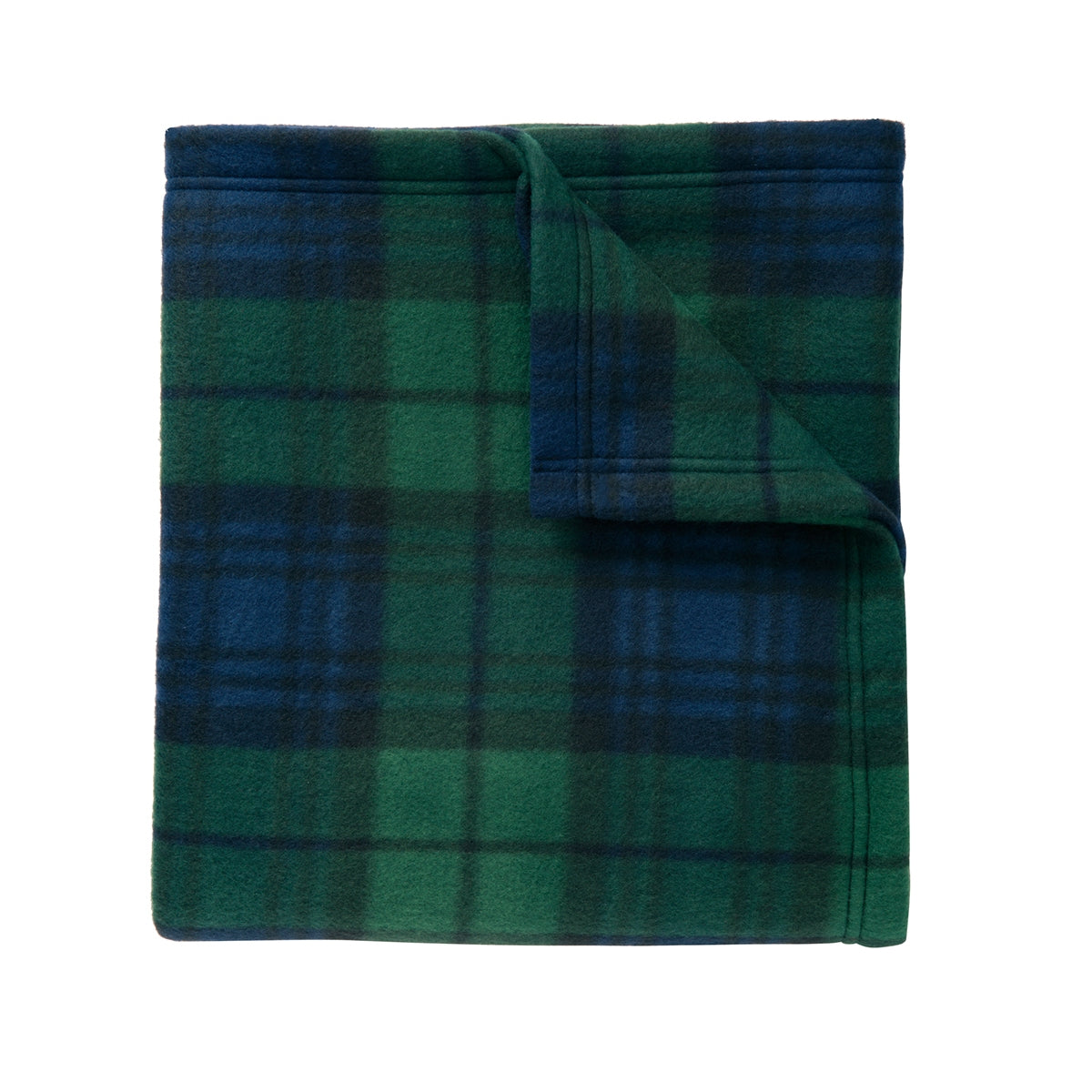 Core Printed Fleece Blanket Black Watch Plaid Print