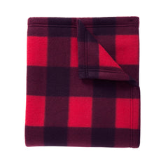 Core Printed Fleece Blanket Buffalo Plaid Print