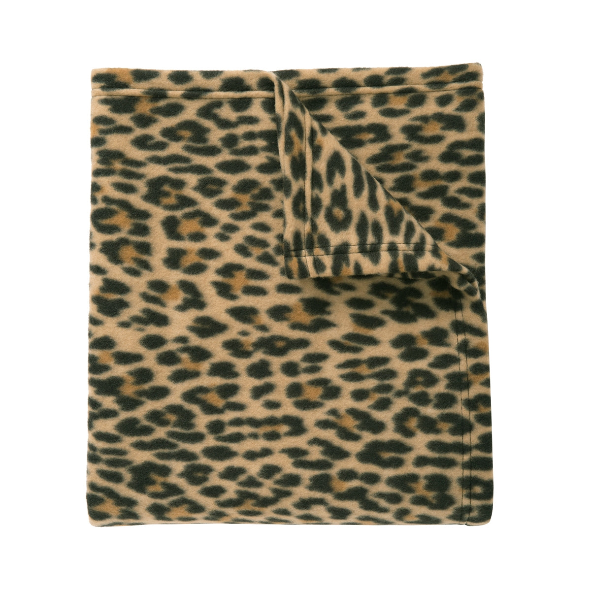 Core Printed Fleece Blanket Leopard Print