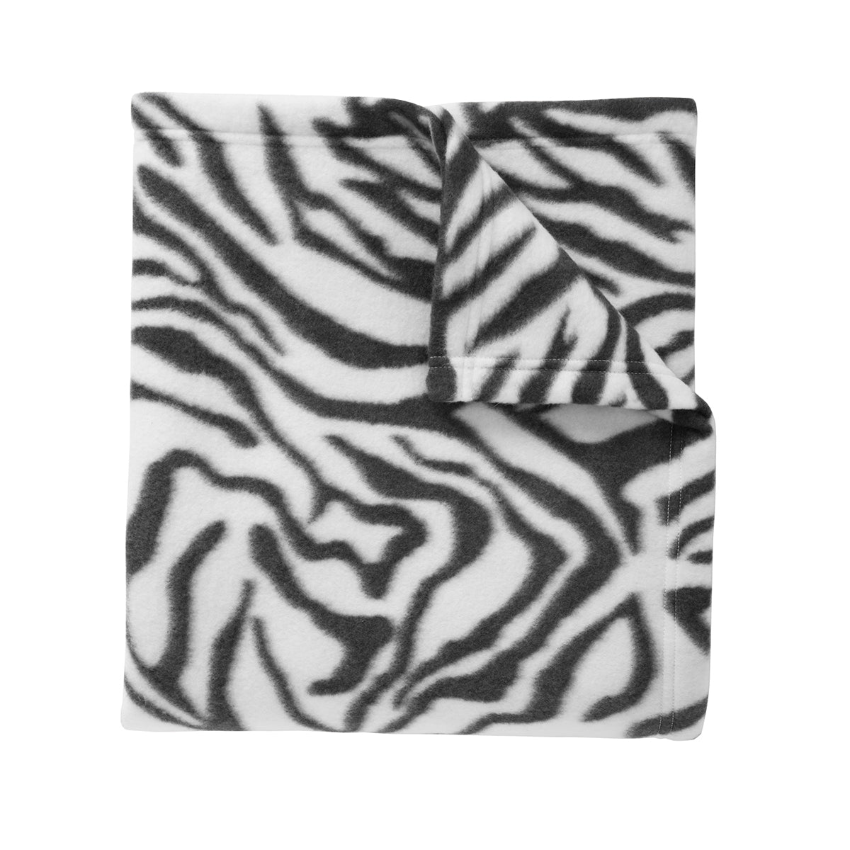 Core Printed Fleece Blanket Zebra Print