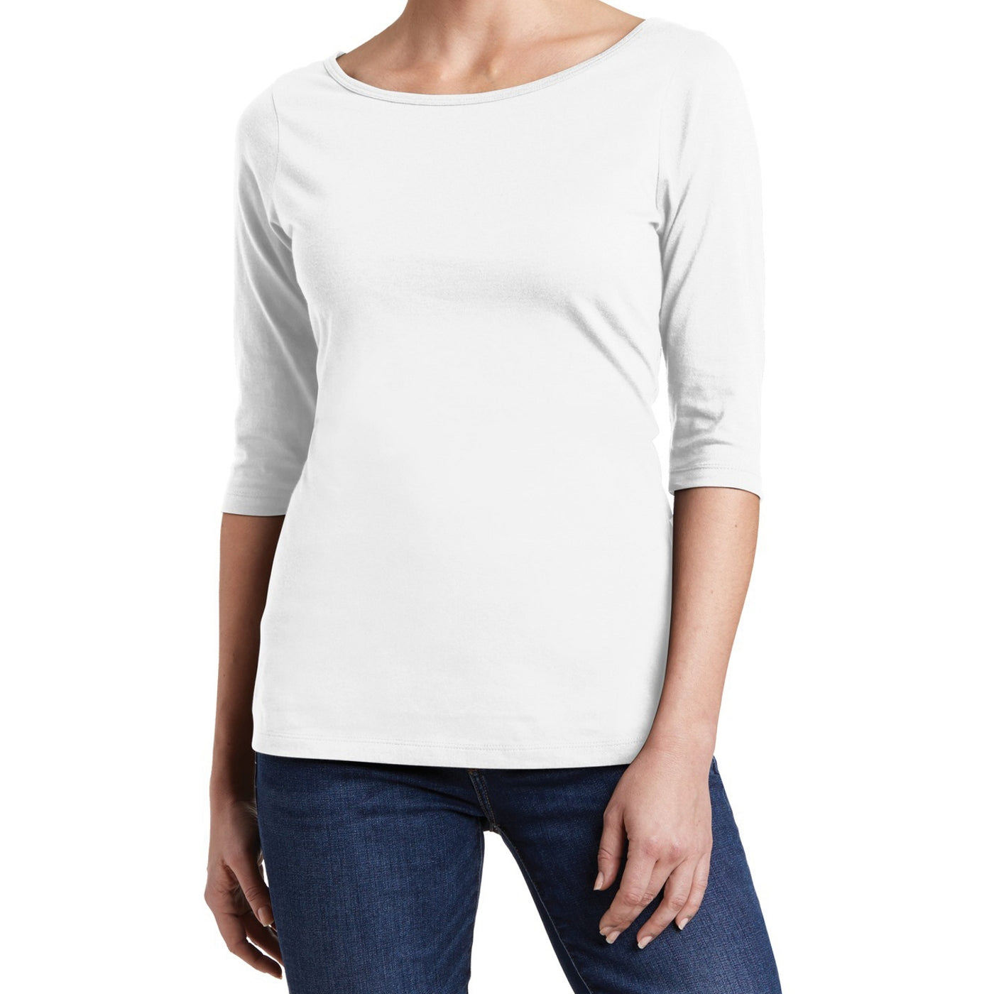Women's Perfect Weight 3/4-Sleeve Tee - Bright White