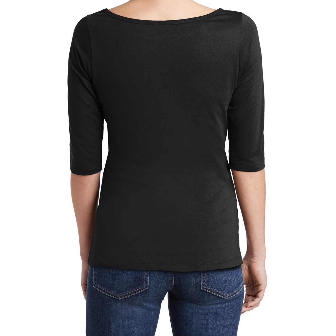 Women's Perfect Weight 3/4-Sleeve Tee - Jet Black