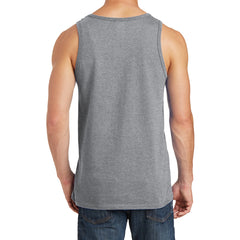 Men's Core Cotton Tank Top - Athletic Heather - Back