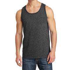 Men's Core Cotton Tank Top - Dark Heather Grey - Front