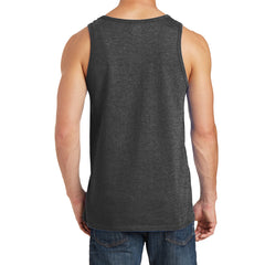 Men's Core Cotton Tank Top - Dark Heather Grey - Back