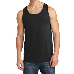 Men's Core Cotton Tank Top - Jet Black - Front