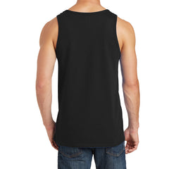 Men's Core Cotton Tank Top - Jet Black - Back