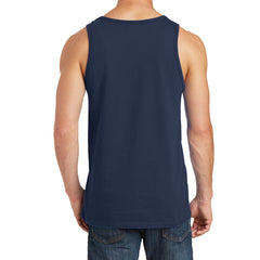 Men's Core Cotton Tank Top - Navy - Back