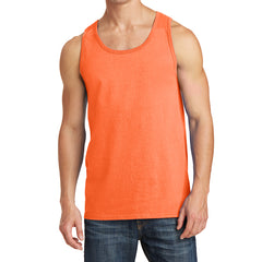 Men's Core Cotton Tank Top - Neon Orange - Front