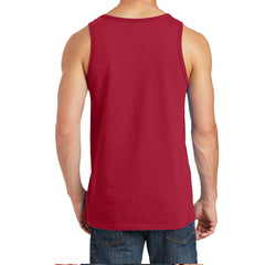 Men's Core Cotton Tank Top - Red - Back