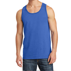 Men's Core Cotton Tank Top - Royal - Front