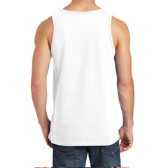 Men's Core Cotton Tank Top - White - Back