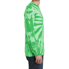 Men's Tie-Dye Long Sleeve Tee - Kelly - Side