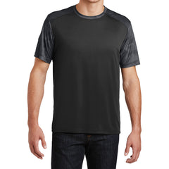 Men's CamoHex Colorblock Tee Shirt Black/ Iron Grey Front