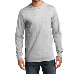 Men's Long Sleeve Essential Tee - Ash - Front