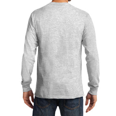 Men's Long Sleeve Essential Tee - Ash - Back