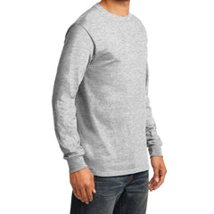Men's Long Sleeve Essential Tee - Ash - Side