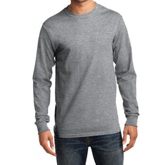 Men's Long Sleeve Essential Tee - Athletic Heather - Front