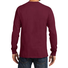 Men's Long Sleeve Essential Tee - Cardinal - Back
