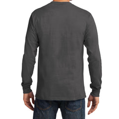 Men's Long Sleeve Essential Tee - Charcoal - Back